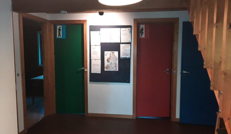 Toiletter i hall'en